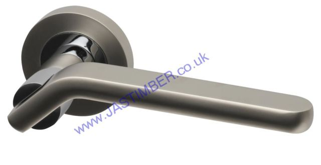 Intelligent AMETHYST Dual Chrome Finish Door Handles : AME.09.PCP/MNP