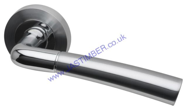 Intelligent Durham Dual Chrome Finish Door Handles : DUR.09.PCP/SCP