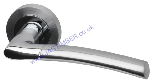 Intelligent Falcon Dual Chrome Finish Door Handles : FAL.09.PCP/SCP
