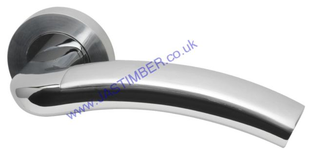 Intelligent Jade Dual Chrome Finish Door Handles : JAD.09.PCP/SCP