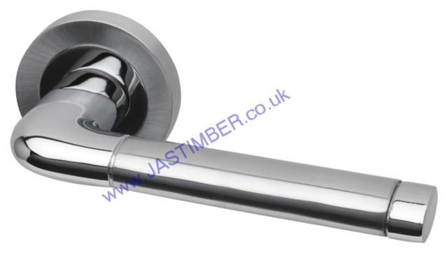 Intelligent Jet Dual Chrome Finish Door Handles : JET.09.PCP/SCP