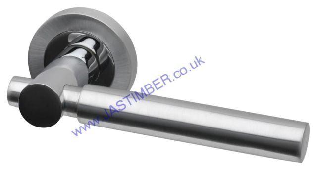 Intelligent Laser Dual Chrome Finish Door Handles : LAS.09.PCP/SCP
