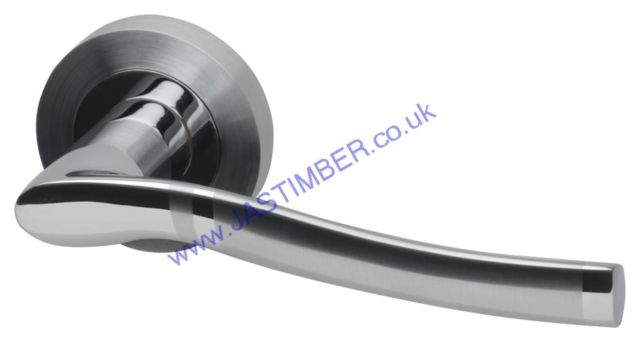 Intelligent Salisbury Dual Chrome Finish Door Handles : SAL.09.PCP/SCP