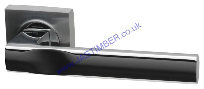 Cambridge Dual-Chrome Square Rose Door Handle