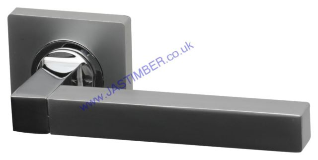 Intelligent Quad Dual Chrome Finish Door Handles on Square Rose : QUAD.09.PC/MC
