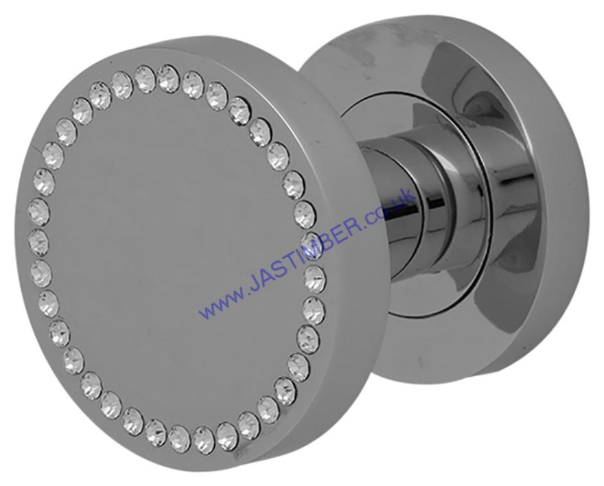 Intelligent AZORE Polished-Chrome / Swarovski Crystals Door Knob : ORO.AZORE.KNOB.CP