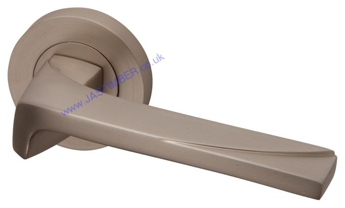 Moderna Pearl Nickel Door Handle - Intelligent Door Handles