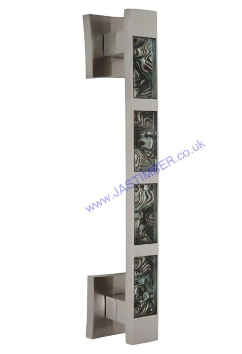 Tigrata Pearl Nickel / Black Pattern Inset Pull Handles - Intelligent Door Handles