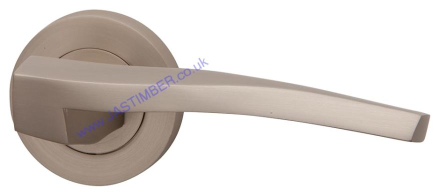 Intelligent VITRO Pearl-Nickel Finish Door Handles : ORO.VITRO.PN