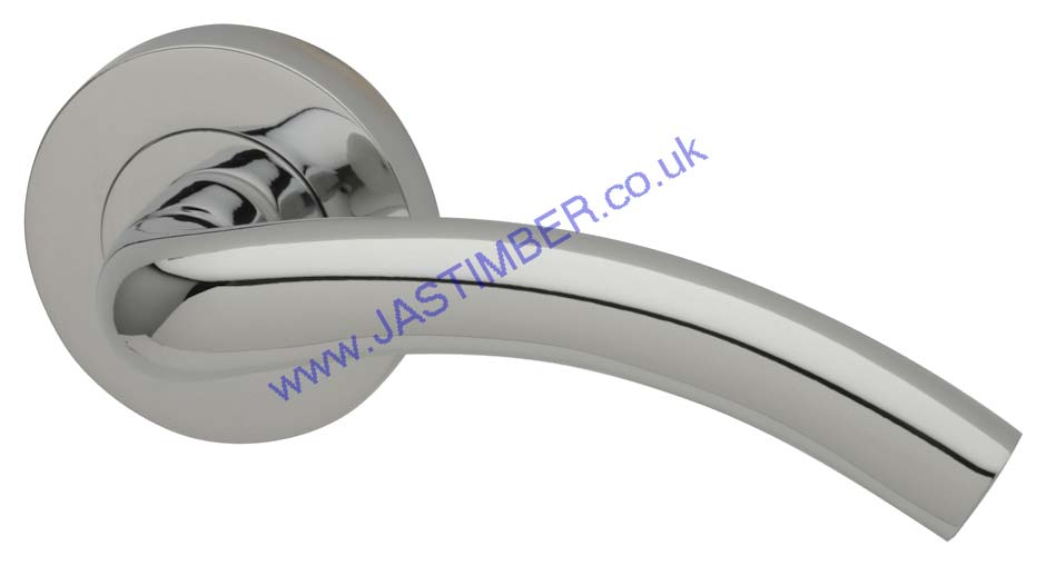 Intelligent MIRAGE Polished-Chrome Finish Door Handles : MIR.09.PCP