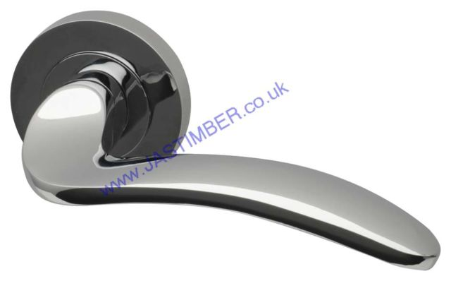 Intelligent Solar Polished-Chrome Finish Door Handles : SOL.09.PCP