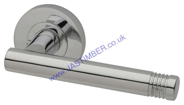 Intelligent Strata Polished-Chrome Finish Door Handles : STR.09.PCP