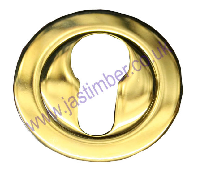 EZ1332 PZ78 Escutcheon Euro Profile PZ Brass