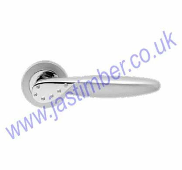 Karcher R42W Orlando Lever Door Handle * White Crystal * CP - SSS