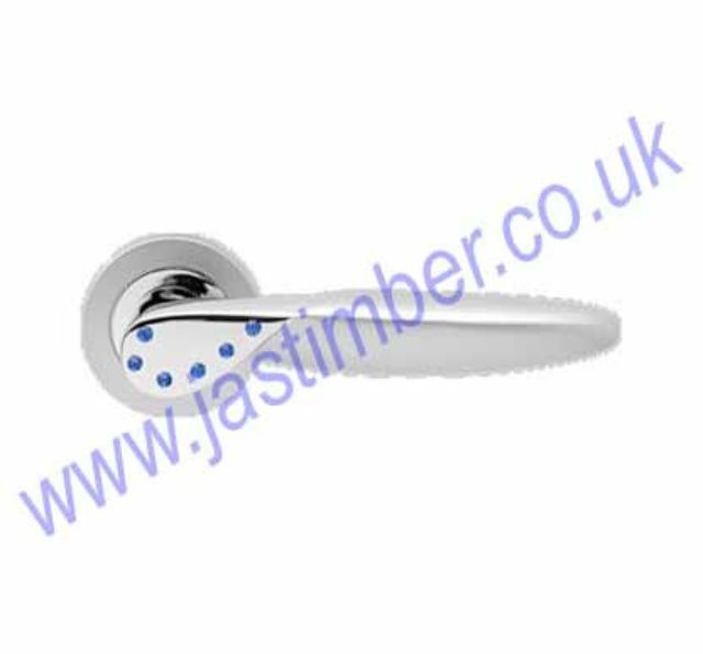 Karcher R42B Orlando Lever Door Handle * Blue Crystal * CP - SSS