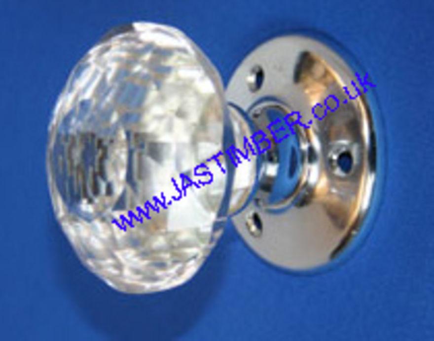 Securit Glass Solitaire Mortice Door Knob