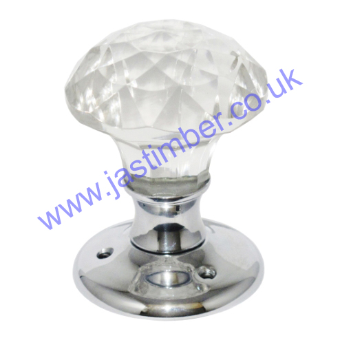 Solitaire Glass Door Knob - B3293 - S3293 -