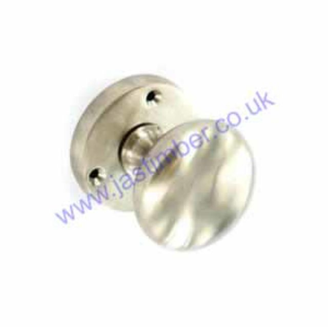 Securit B2869 Brushed Nickel Mortice Door Knob Handles on Round Rose - MP Smith