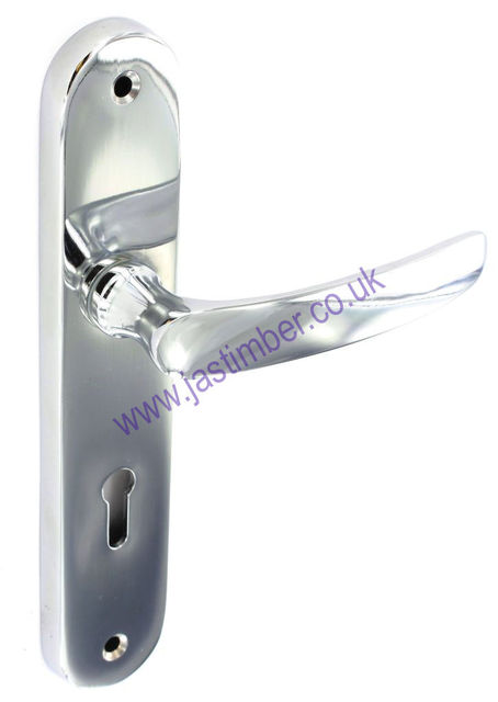 Securit S2860 Eleanor Lever Lock Door Handle on Backplate - CP