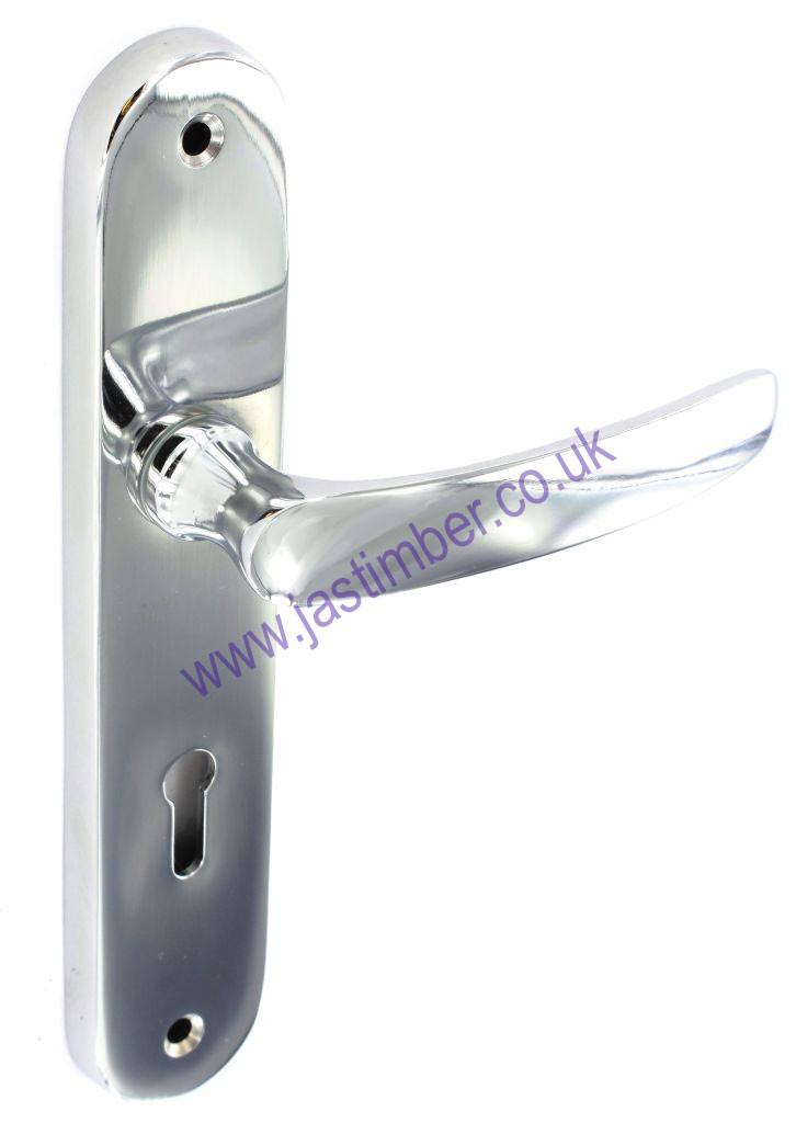 Securit Eleanor Lever Lock Door Handle On Backplate