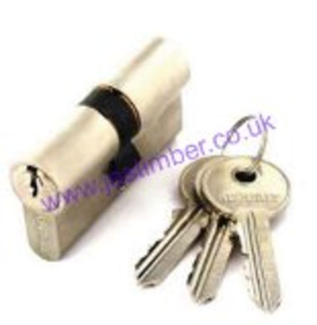 EURO CYLINDER Polished Nickel 35x35mm B2007 Securit