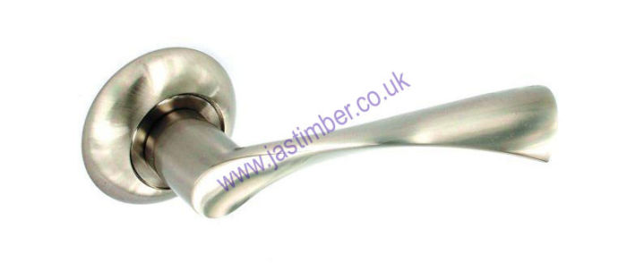 Lunar Dual Finish Latch Lever Door Handle Securit