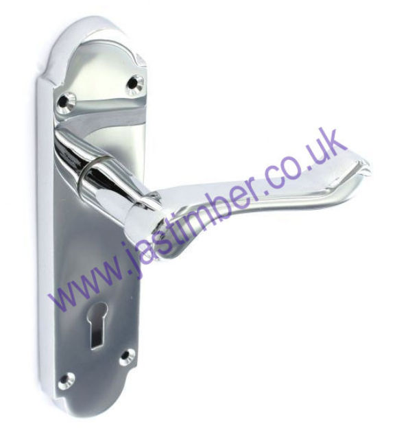 Securit S2910 Richmond Lever Lock Door Handle on Backplate - CP