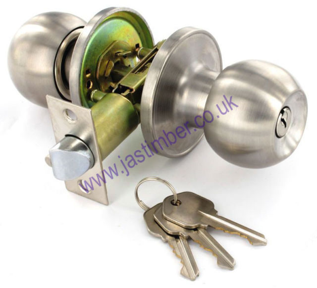 Securit B2953 B2954 B2955 Door Knob Set on 64mm Round Rose - SSS