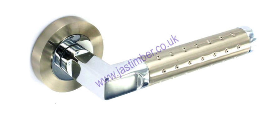 Ultra Dual Finish Latch Lever Door Handle Securit