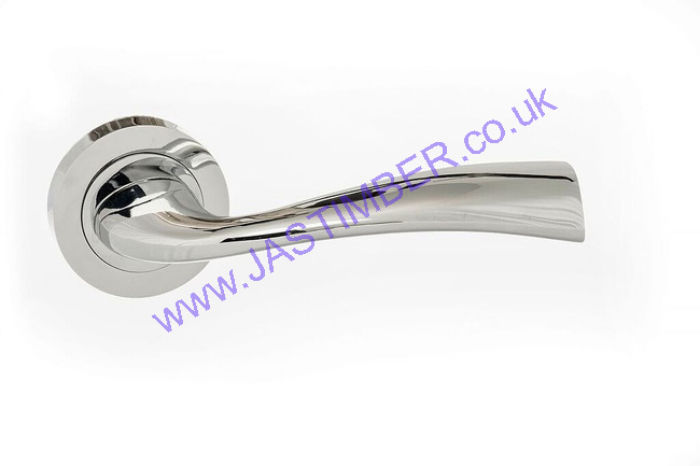 Atlantic Eco Wave Polished Chrome Door Handles - ECO30PC