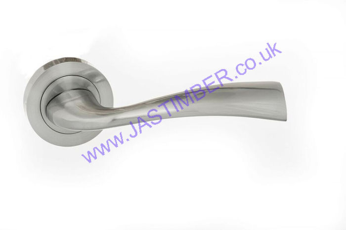 Atlantic Eco Wave Satin Chrome Door Handles - ECO30SC