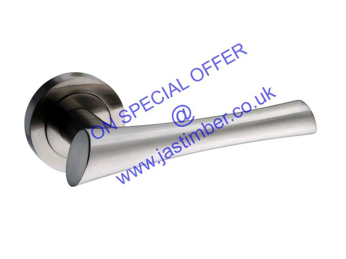 Atlantic CORSICA Nickel Lever Door Handles - M-60 SN