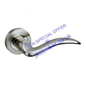 Atlantic VALENCIA Dual Finish Nickel Lever Door Handles - M-85 SN/NP