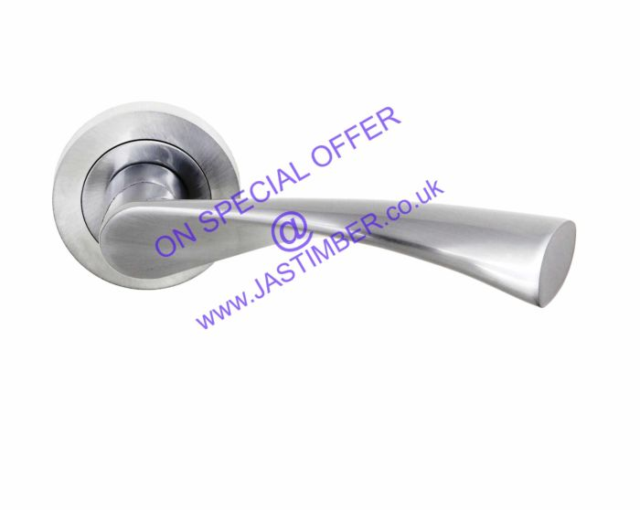 Status COLORADO Satin-Chrome Door Handles S34R-SC