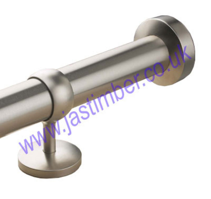 Rothley Brushed Nickel Wall Socket Handrail Fitting - setting