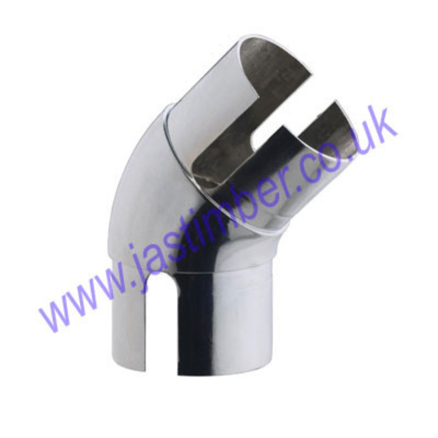 Rothley Chrome 135 degree Elbow Handail Fitting