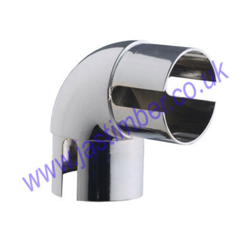 Rothley Chrome 90 degree Elbow Handrail Fitting