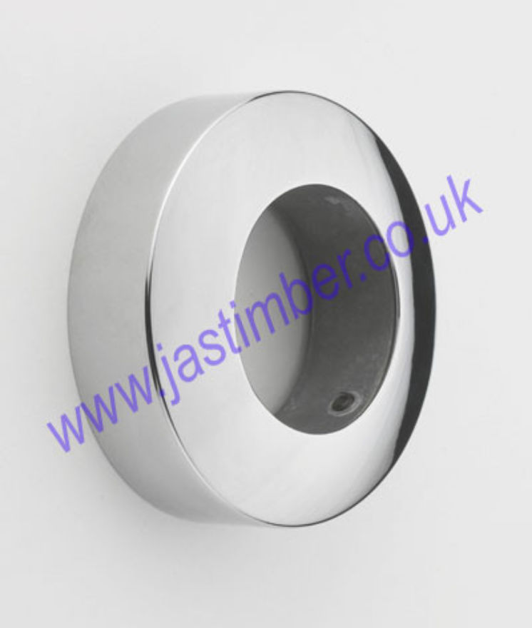 Rothley Chrome Wall Socket for Handrail Fitting