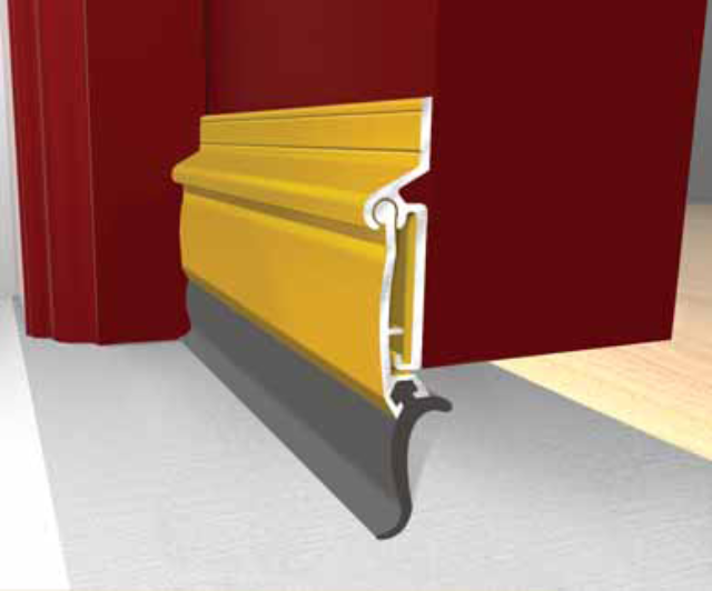 "36"" Raindrip : Gold Autoseal - Exitex AS Gold Anodised Aluminium - Door Seal"