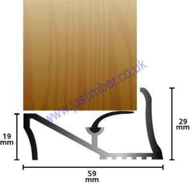 "Lowline Door Sill 19mm [3/4""] Gold Stormguard 04SG001"