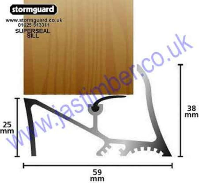 "Superseal GAA Gold Door Sill - 25mm [1""] 04SG011 Gold Stormguard"