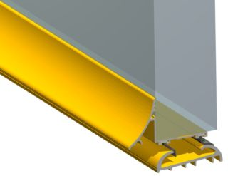 "Photography of TRIMLINE 20 2-Part GOLD Sill EASY ACCESS - PART 'M' THRESHOLD 13.3mm [1/2""] 04CP450 Gold STORMGUARD"