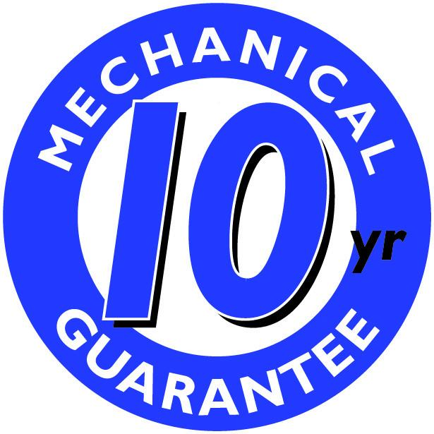 10 Year Mechanical Guarantee