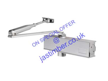 Door Closer Size 2-4 Overhead - Eurospec DCT2024-SV Silver-Grey