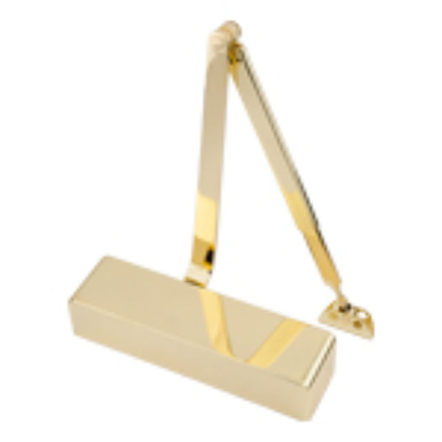 Door Closer 93 Series Overhead type Size.2-4 - Radiused Corners - Polished-Brass Frisco 28900