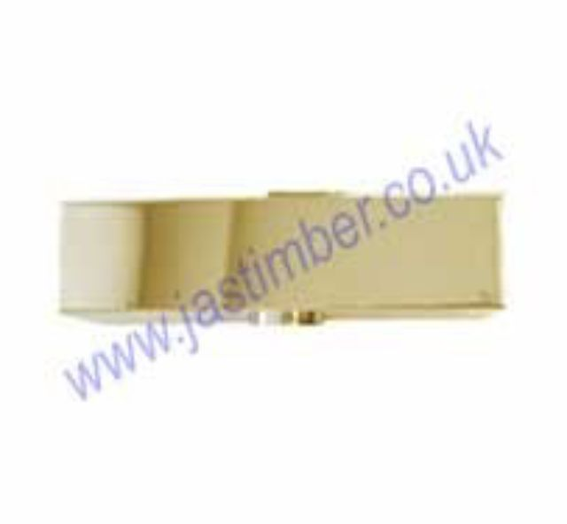 Door Closer Cover - Brass ADC 28781 Frisco