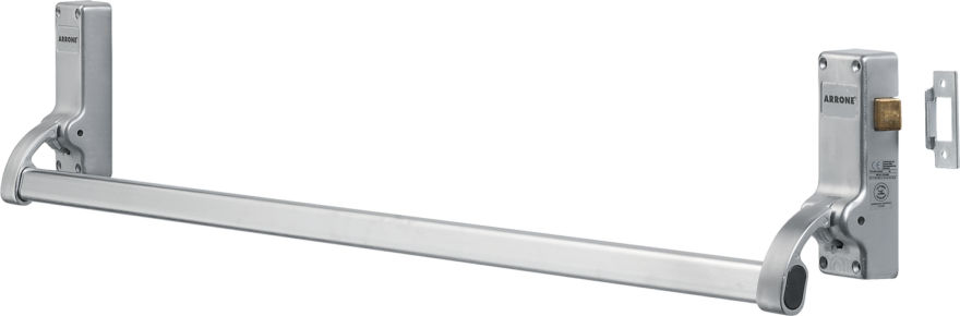 AR882-SSS Arrone® Fire Door Push-Bar Panic-Latch - SSS plated Satin-Nickel