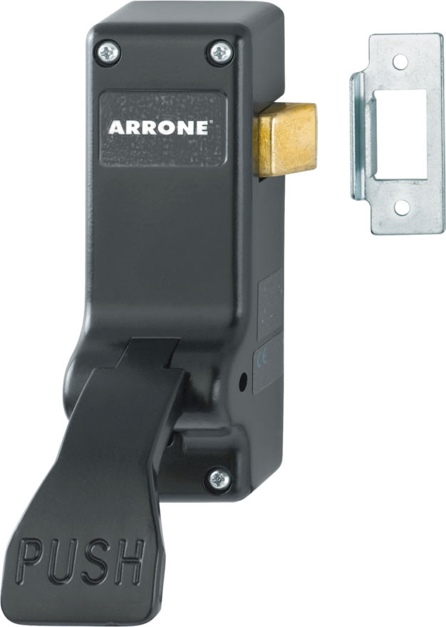 AR883-BL Arrone® Black Powder-coat Fire Door Push-Pad