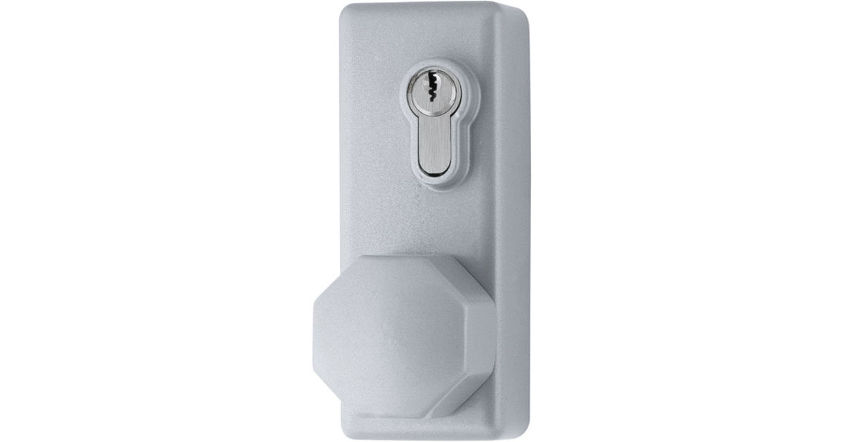 AR885K-SE Arrone® Silver Fire Door Eurolock with Knob