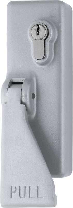 Silver/Grey Panic-Bolt Eurolock + Pull-Handle - Hoppe® AR885-SE